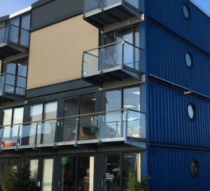 Containers Used For Large Scale Residential Builds